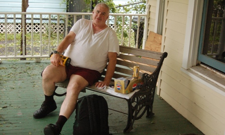 Chuck on the porch