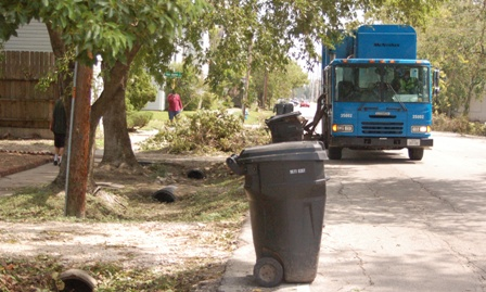 routine trash collection