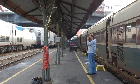 Christof stalking Amtrak