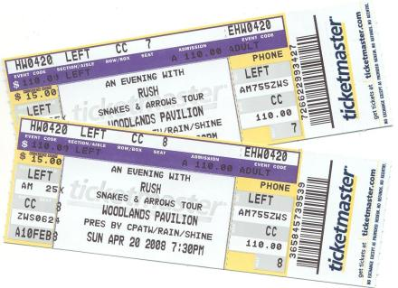 tickets to Rush show